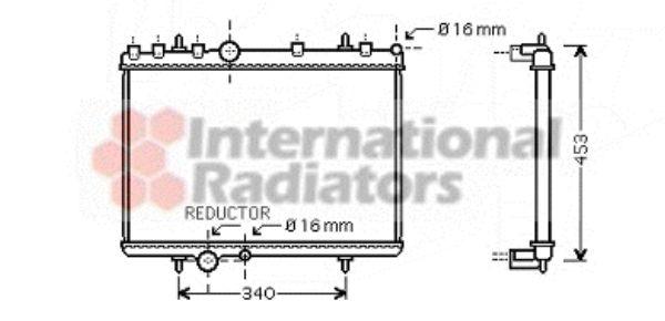Radiateur, refroidissement du moteur - VWA - 88VWA40002266