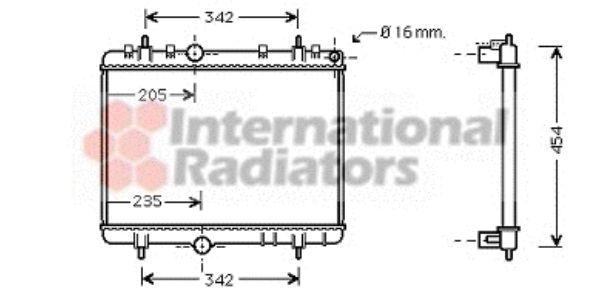 Radiateur, refroidissement du moteur - VAN WEZEL - 40002267