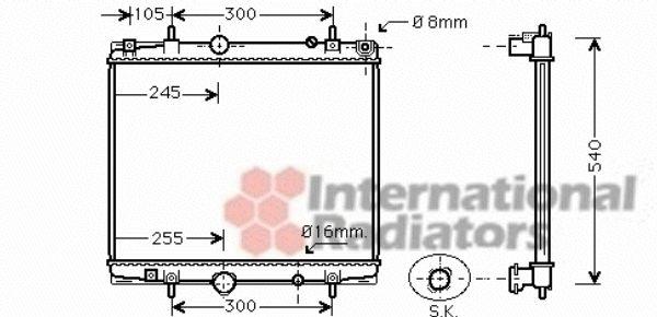 Radiateur, refroidissement du moteur - VAN WEZEL - 40002274
