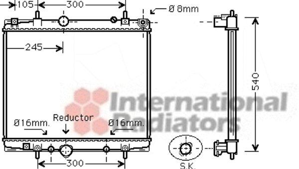 Radiateur, refroidissement du moteur - VAN WEZEL - 40002277