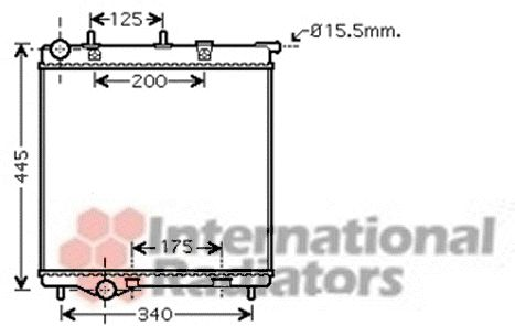 Radiateur, refroidissement du moteur - VAN WEZEL - 40002288