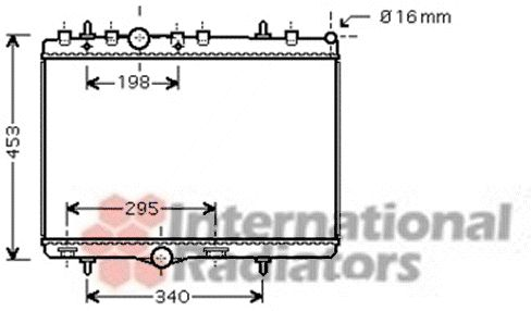 Radiateur, refroidissement du moteur - VAN WEZEL - 40002290