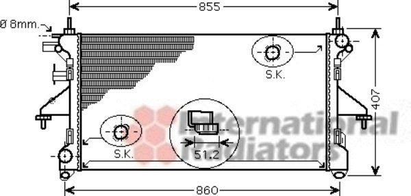 Radiateur, refroidissement du moteur - VAN WEZEL - 40002308