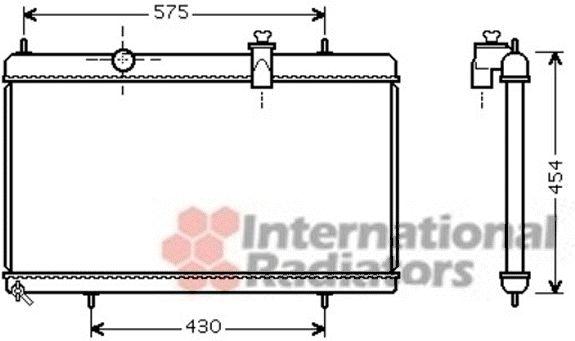 Radiateur, refroidissement du moteur - VAN WEZEL - 40002313