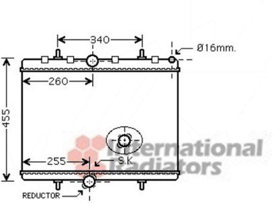 Radiateur, refroidissement du moteur - VAN WEZEL - 40002314