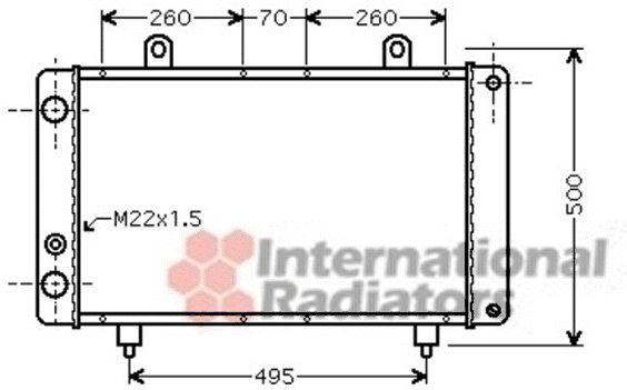 Radiateur, refroidissement du moteur - VAN WEZEL - 40002319