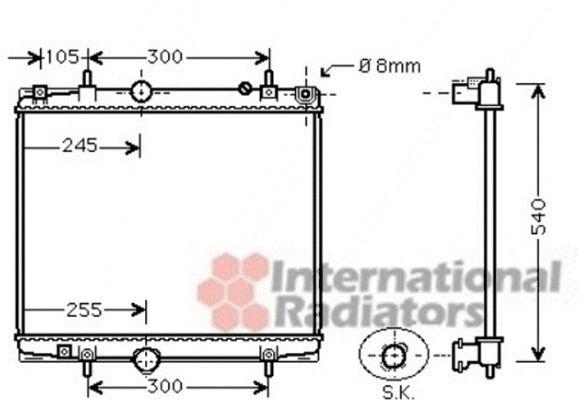Radiateur, refroidissement du moteur - VAN WEZEL - 40002331