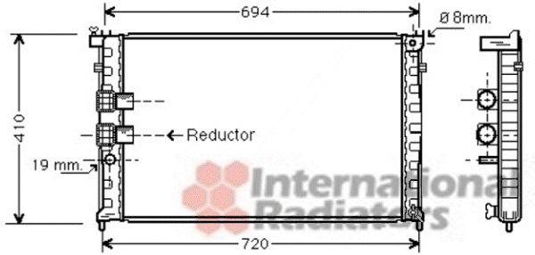 Radiateur, refroidissement du moteur - VAN WEZEL - 40002339
