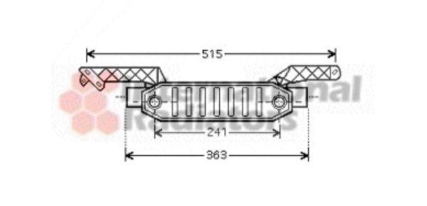Radiateur d'huile - VAN WEZEL - 40003282
