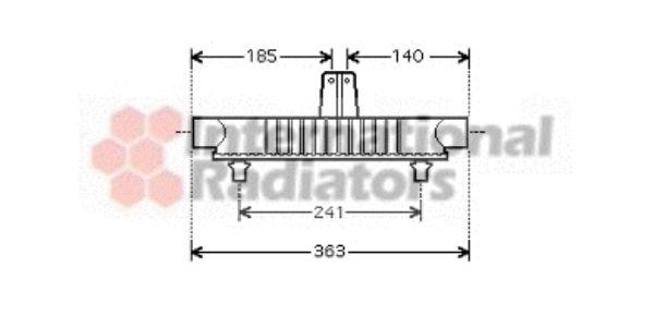 Radiateur d'huile - VAN WEZEL - 40003283