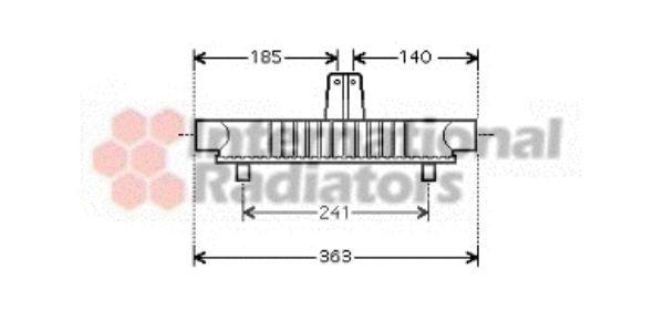 Radiateur d'huile - VAN WEZEL - 40003284