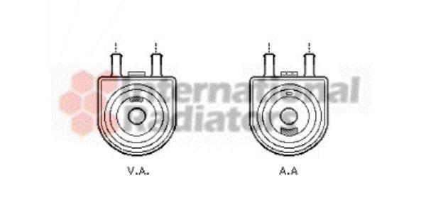 Radiateur d'huile - VAN WEZEL - 40003285