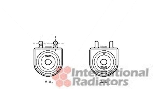Radiateur d'huile - VAN WEZEL - 40003297