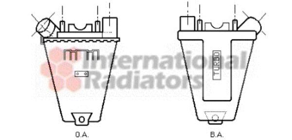 Intercooler, échangeur - VAN WEZEL - 40004139