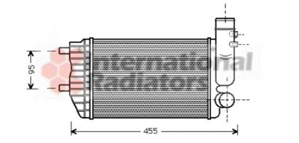 Intercooler, échangeur - VWA - 88VWA40004183