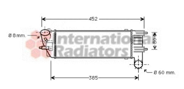 Intercooler, échangeur - VAN WEZEL - 40004204