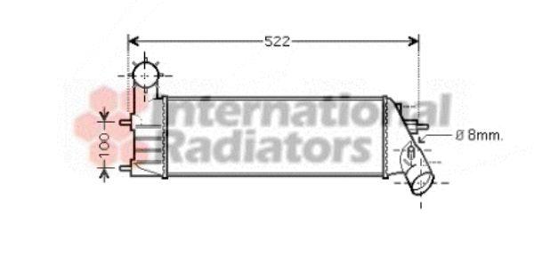 Intercooler, échangeur - VAN WEZEL - 40004261