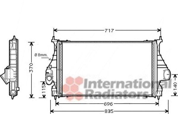 Intercooler, échangeur - VAN WEZEL - 40004273