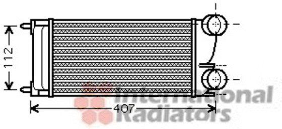 Intercooler, échangeur - VAN WEZEL - 40004332
