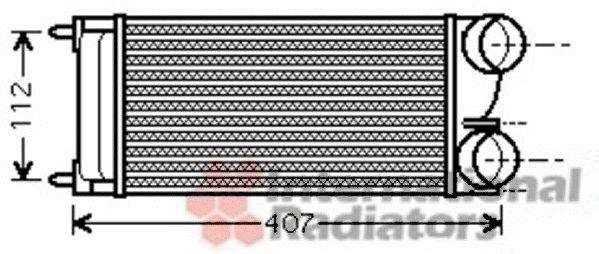 Intercooler, échangeur - VAN WEZEL - 40004334