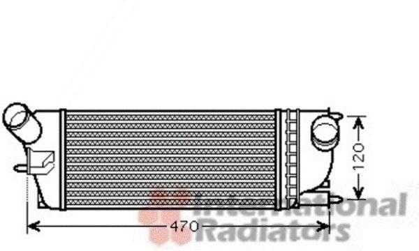 Intercooler, échangeur - VAN WEZEL - 40004336