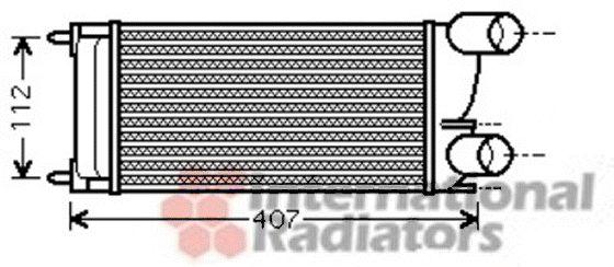 Intercooler, échangeur - VAN WEZEL - 40004337