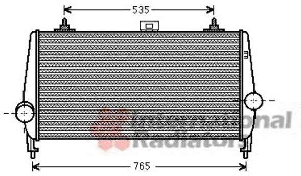 Intercooler, échangeur - VAN WEZEL - 40004338