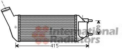 Intercooler, échangeur - VAN WEZEL - 40004341