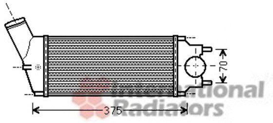 Intercooler, échangeur - VAN WEZEL - 40004342