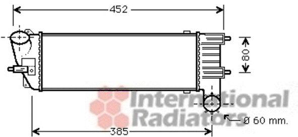 Intercooler, échangeur - VAN WEZEL - 40004344