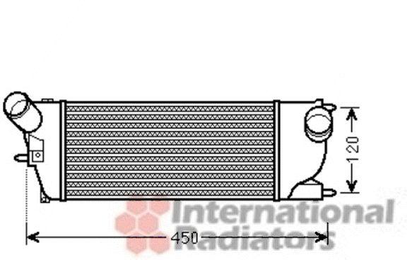 Intercooler, échangeur - VAN WEZEL - 40004345