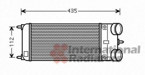 Intercooler, échangeur - VAN WEZEL - 40004353