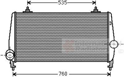 Intercooler, échangeur - VAN WEZEL - 40004354