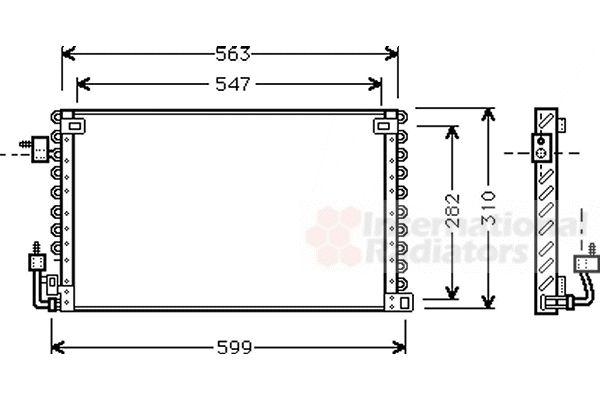 Condenseur, climatisation - VAN WEZEL - 40005180
