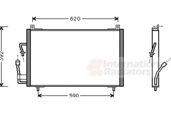 Condenseur, climatisation - VAN WEZEL - 40005182