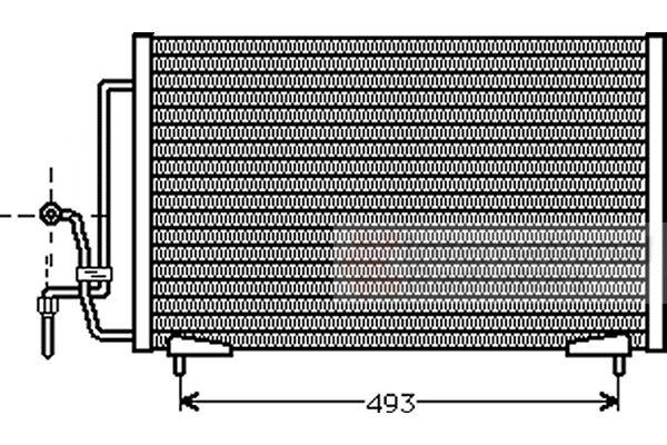Condenseur, climatisation - VAN WEZEL - 40005184