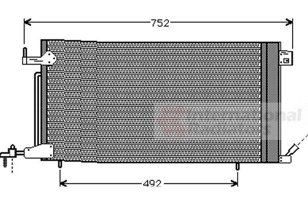 Condenseur, climatisation - VAN WEZEL - 40005187