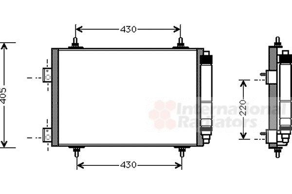 Condenseur, climatisation - VAN WEZEL - 40005215