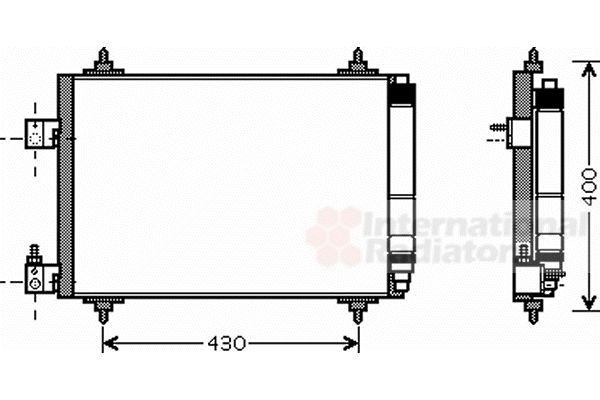 Condenseur, climatisation - VAN WEZEL - 40005286