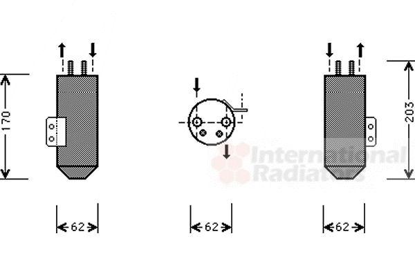 Filtre déshydratant, climatisation - VAN WEZEL - 4000D020