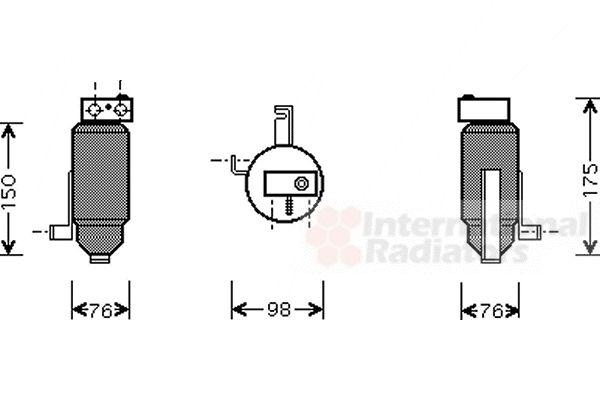 Filtre déshydratant, climatisation - VAN WEZEL - 4000D059