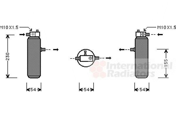 Filtre déshydratant, climatisation - VAN WEZEL - 4000D194