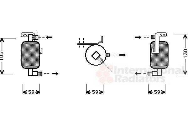 Filtre déshydratant, climatisation - VAN WEZEL - 4000D195