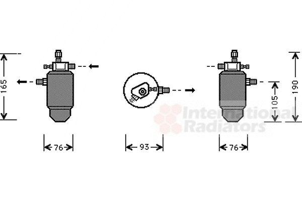 Filtre déshydratant, climatisation - VWA - 88VWA4000D197
