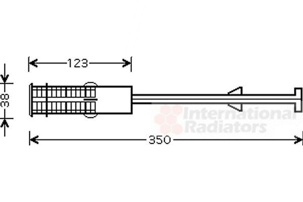 Filtre déshydratant, climatisation - VAN WEZEL - 4000D264