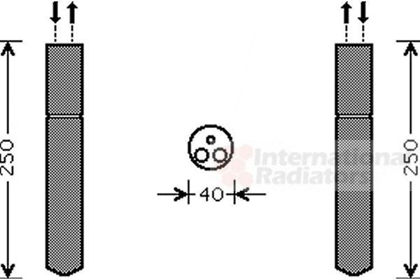 Filtre déshydratant, climatisation - VAN WEZEL - 4000D302