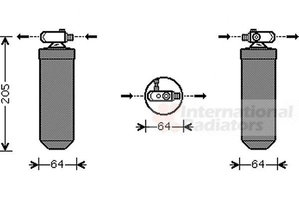 Filtre déshydratant, climatisation - VAN WEZEL - 4000D303