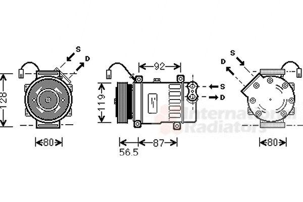 Compresseur, climatisation - VWA - 88VWA4000K036
