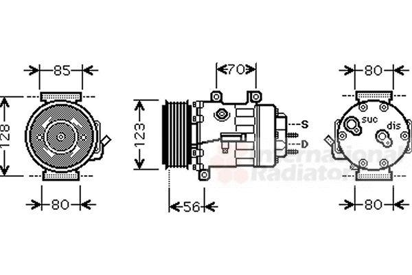 Compresseur, climatisation - VWA - 88VWA4000K307