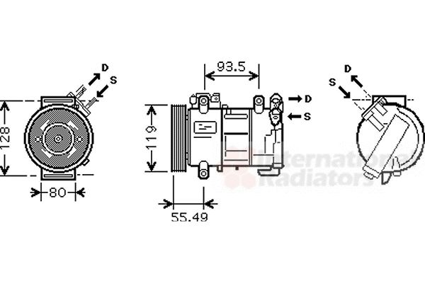 Compresseur, climatisation - VAN WEZEL - 4000K315